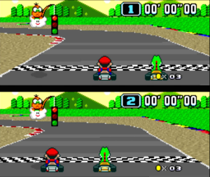 Mario Kart on Super Nintendo