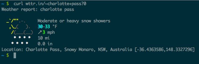 Weather reports from your terminal with curl – Patrick